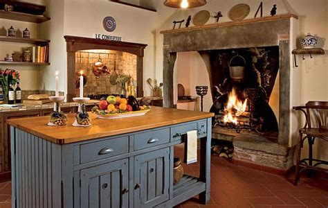 italian country kitchen 91 best kitchen fireplaces images on 1997