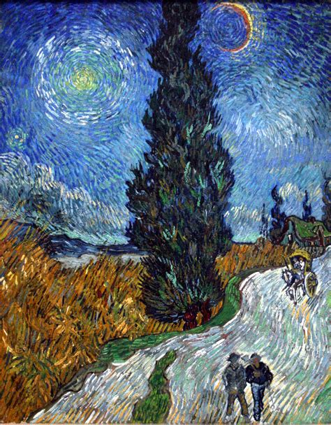 Filevan Gogh Country Road In Provence By Night