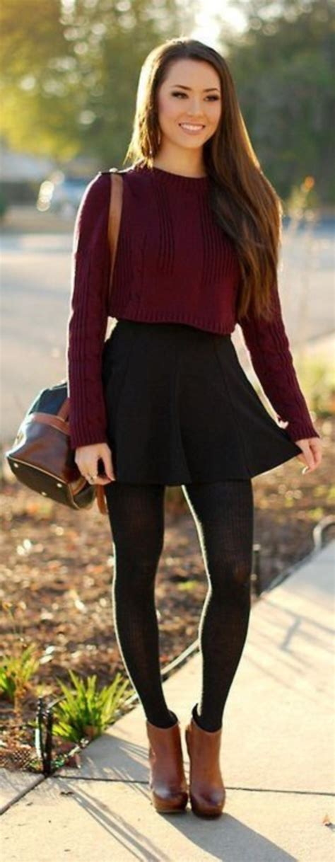 45 Cute Spring Outfits with Black Tights