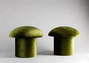Champignon Mignon Round All-upholstered Stool