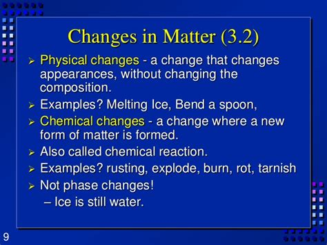 10 Examples Of Physical Change