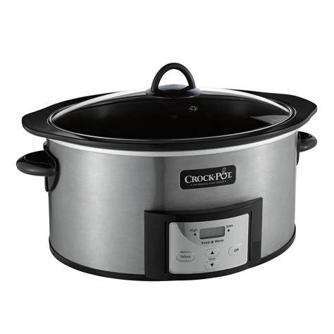 crock pot 174 6 quart cooker with stovetop safe cooking pot at crock pot