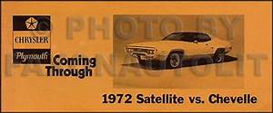 1972 Chevelle Wiring Diagram Manual Reprint Malibu  Ss  El