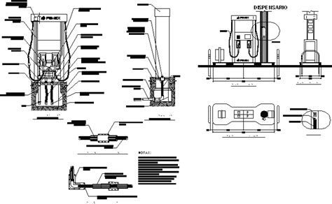 Dispense Autocad by Dispenser Station Dwg Detail For Autocad Designs Cad