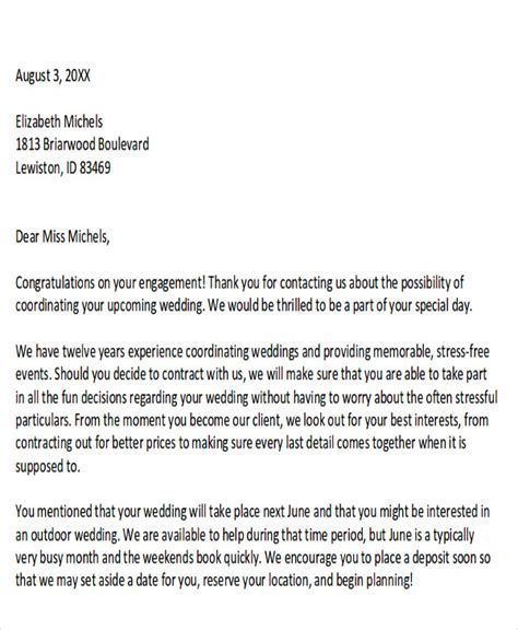 sample event proposal letters  word