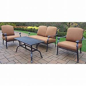 oakland living clairmont patio furniture collection with With bed bath and beyond patio furniture cushions