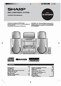 Sharp Cd  Operation Manual  U2014 View Online Or Download Repair Manual