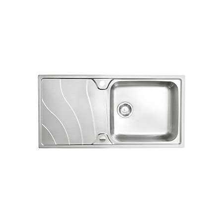 cooke and lewis kitchen sinks cooke lewis korner 1 bowl polished stainless steel sink 8328