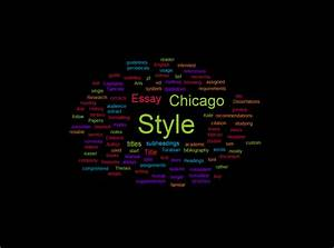 Formatting A Paper In Chicago Academic Style