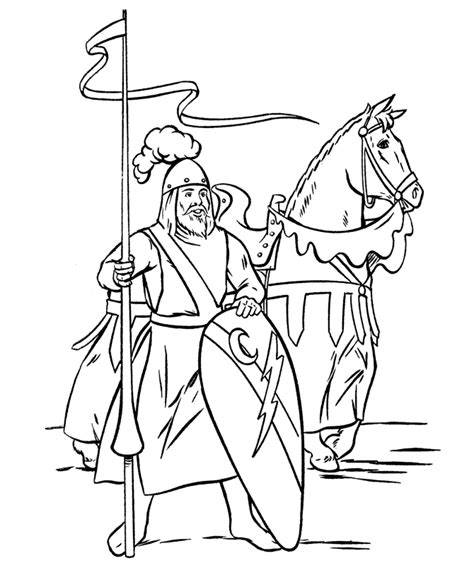 castles  knights az coloring pages