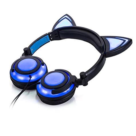 headphones with light up cat ears light up cat ear headphones mugwomp
