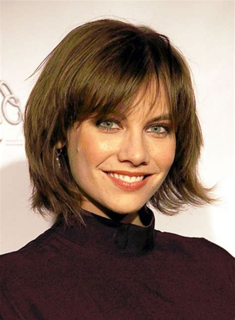 short layered bob with bangs hairstyle for women man