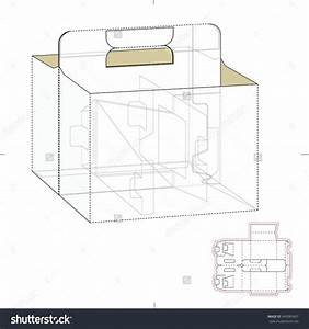 carrier box with die cut template stock vector With six pack carrier template