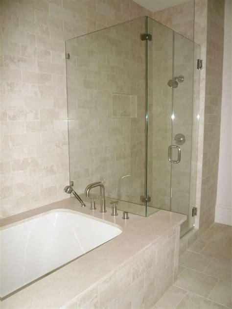 Bathroom Tubs And Showers Ideas by Shower Bathtub Shower Combo Crema Marfil Tile Bathroom