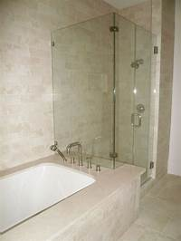tubs and showers Shower Bathtub & Shower Combo Crema Marfil Tile Bathroom for Millie's bathroom. | Finishes ...