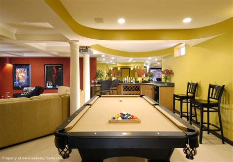 how big is a bar pool table 63 finished basement quot man cave quot designs awesome pictures