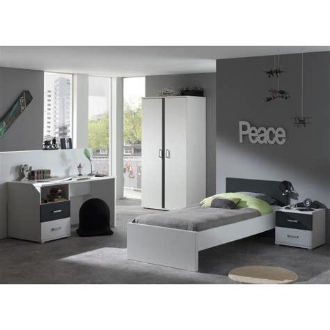 lit et bureau ado meuble bureau ado gris et blanc moderne pour chambre enfant