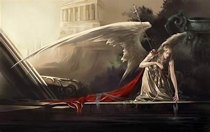 Angel Desktop Wallpapers Fantasy Background Angels Wings