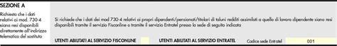 Codice Sede Entratel by Certificazione Unica Quadro Ct Comunicazione Per La