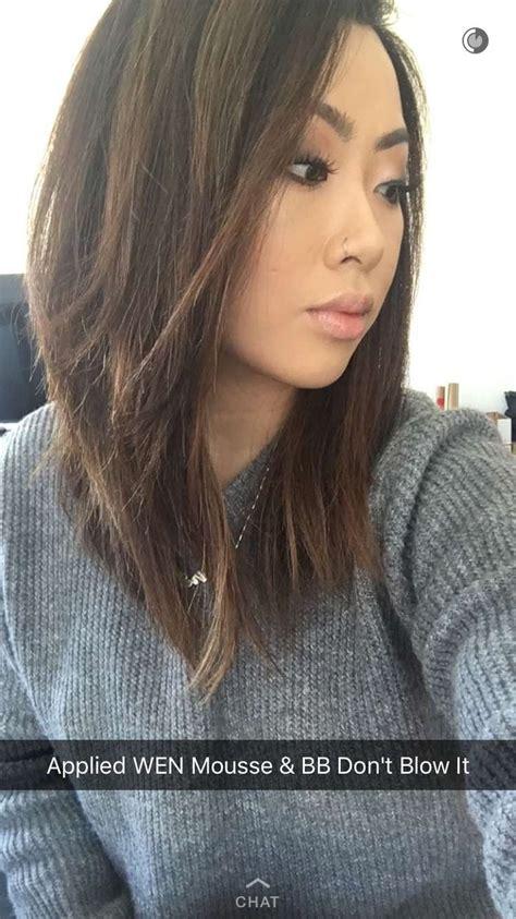 claire marshall hair inspo  straight lob hair