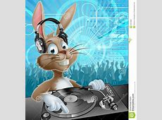 Ostern Bunny Party DJ vektor abbildung Illustration von
