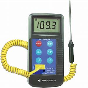 Digi Sense Calibrated Workhorse Thermocouple Thermometer