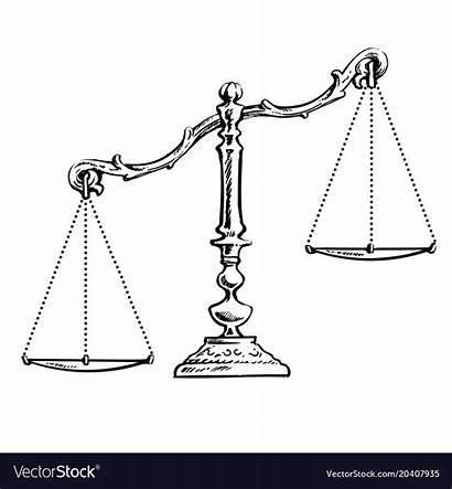 Unbalanced Scales Vector Royalty Vectorstock