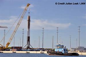 Sea Landed SpaceX Falcon 9 Sails Back into Port Canaveral ...