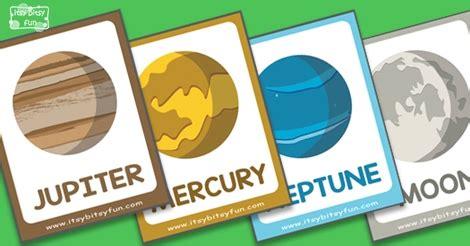 solar system flashcards itsybitsyfuncom