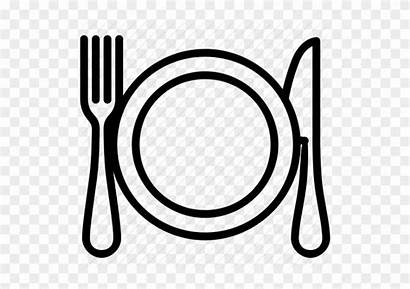 Dinner Plate Clipart Clip Dishes Icon Dish