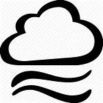 Windy Cloudy Weather Icon Wind Cloud Clipart
