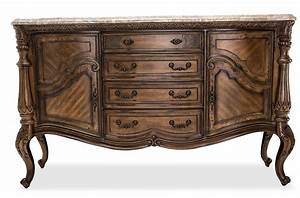 Edens paradise sideboard marble top ginger finish o usa for Hometown usa furniture