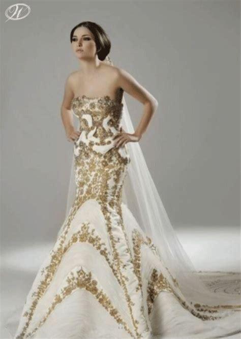 white  gold wedding gown wedding dress pinterest
