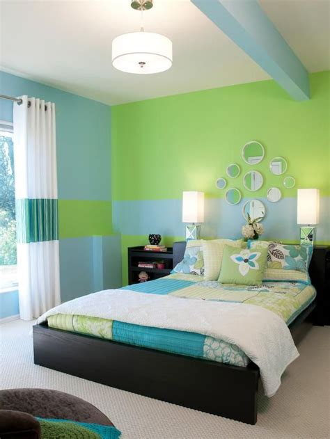 Bedroom Images Colour by Green And Blue Room Creative Wall Murals For