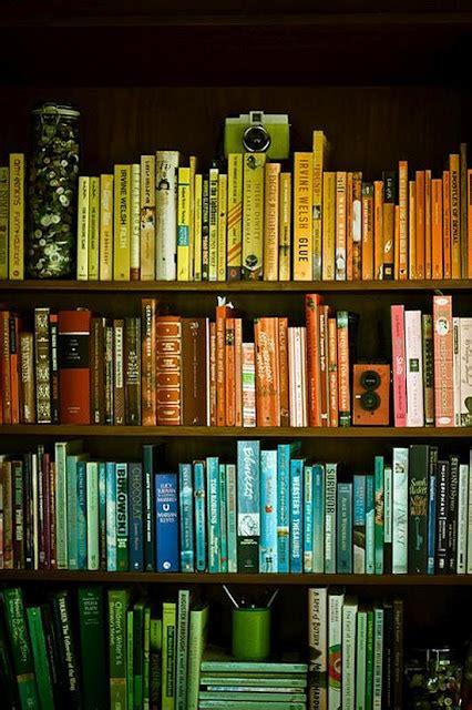 Color Coordinated Bookshelf  Loft Apartmentinteriors