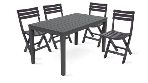 salon de jardin table et chaises beautiful table de jardin pvc marron gallery awesome