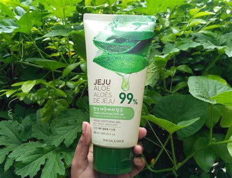 Harga The Shop Jeju Aloe Fresh Soothing Gel the shop jeju aloe fresh soothing gel review