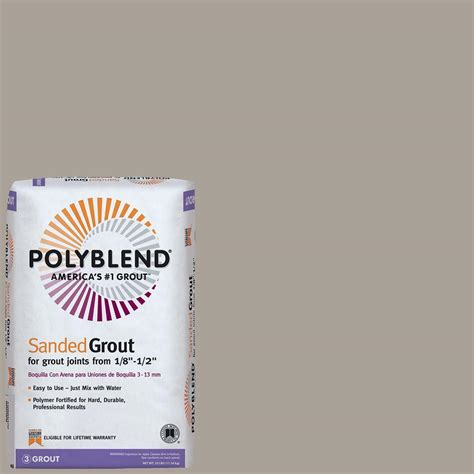 sanded vs unsanded grout custom building products polyblend 543 driftwood 25 lb sanded grout pbg54325 the home depot