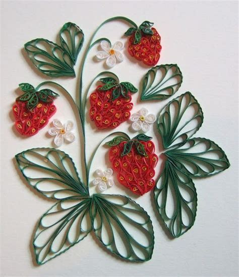 paper quilling fruit httplometscom