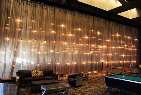 edison bulb wall event rental