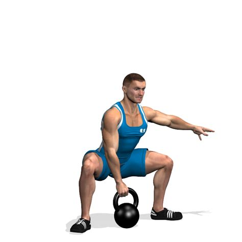 sumo kettlebell arm squat muscles during involved glutes agachamento training exercise sumo
