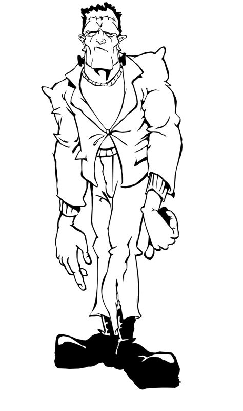 frankenstein coloring pages getcoloringpagescom