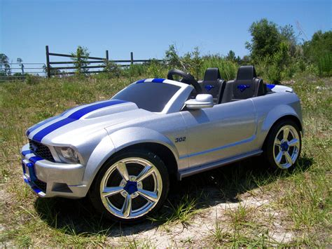 silver charger modified power wheels custom built silver bullet mustang