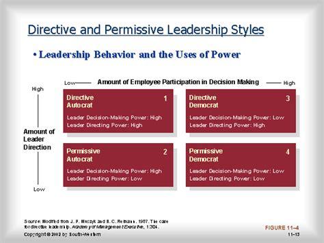 directive  permissive leadership styles