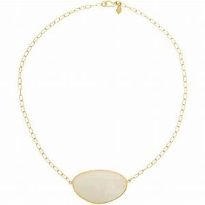 Pippa Small Rainbow Moonstone Pendant Necklace in White ...