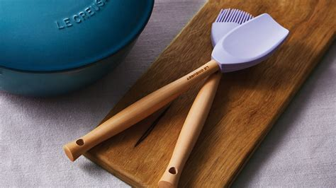 le creuset silicone utensil set  piece provence cutlery