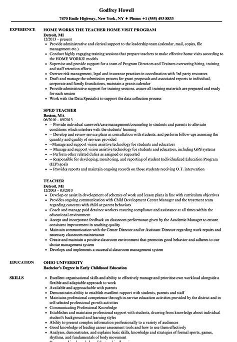 teacher resume samples velvet jobs