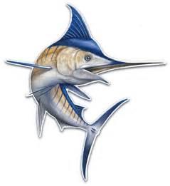 Blue Marlin Jumping Clip Art