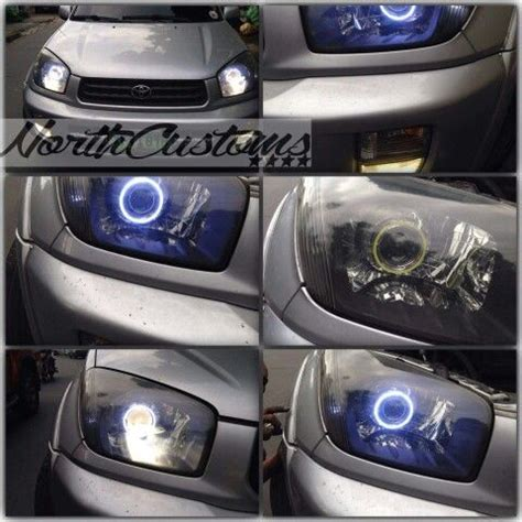 rav   headlight projector retrofit  angel eyes