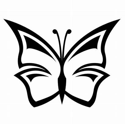 Flower Clipart Clip Stem Butterfly Clipartion Line